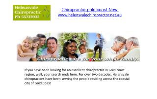 Chiropractor gold coast New