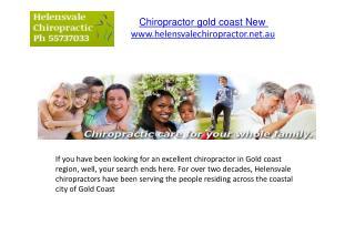 Chiropractor gold coast New