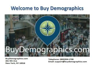 Demographic Data by Zip Code