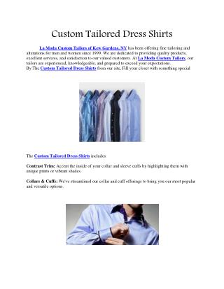 Custom Tailored Dress Shirts