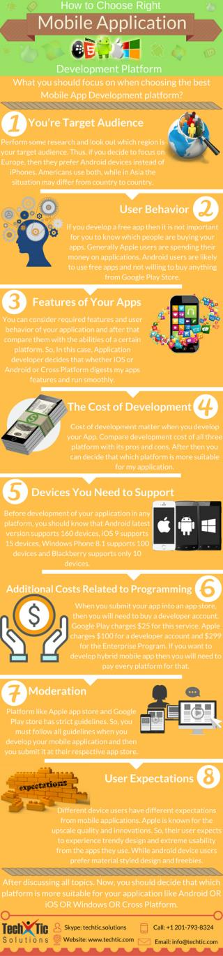 How to Choose Right Mobile Application Development Platform?