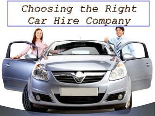Choosing the Right Car Hire Company