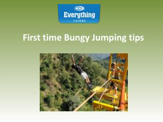 First time Bungy Jumping tips