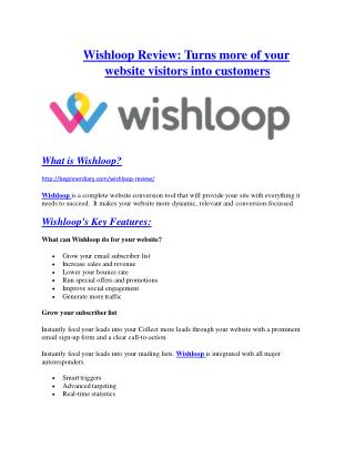 Wishloop review & Wishloop $22,600 bonus-discount