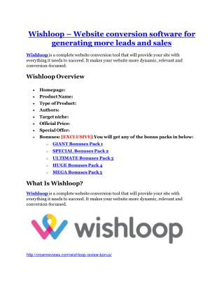 Wishloop review and MEGA $38,000 Bonus - 80% Discount