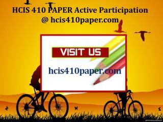 HCIS 410 PAPER Active Participation / hcis410paper.com
