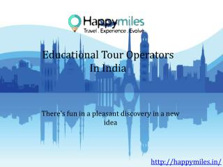 Educational tour operators in india