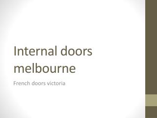 Internal doors melbourne