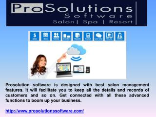 Salon Management Featured Software
