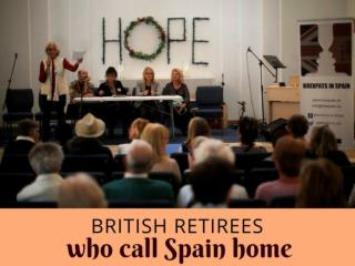 British retirees who call Spain home