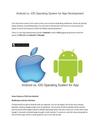 Android vs. iOS Operating System for App Development - iMedia Designs