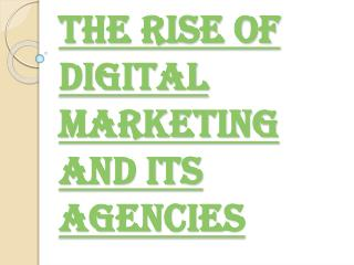 Growth of Digital Marketing and its Agencies