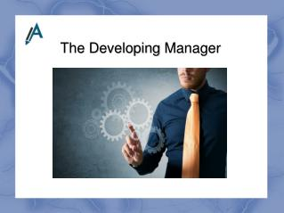 Report on The Developing Manager