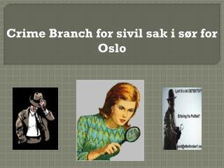 Crime Branch for sivil sak i sør for Oslo