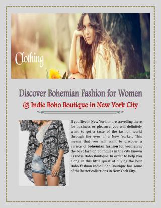 Bohemian Fashion For Women