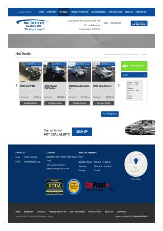 Used Car Financing Specials Offers in Sudbury