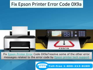 Steps to Fix Epson Printer Error Code 0X9a by Epson Printer support number