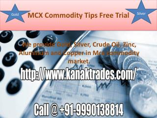 MCX Sure shot Tips,Crude Oil Tips with Single Target