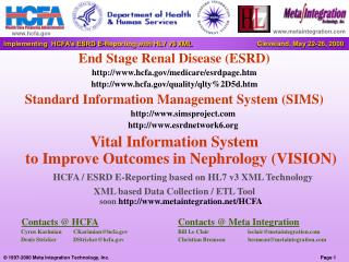 End Stage Renal Disease ESRD hcfa