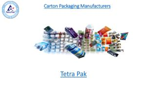 Carton Packaging Manufacturers