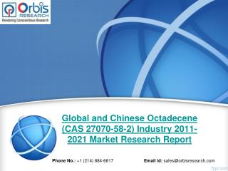 Global and Chinese Octadecene (CAS 27070-58-2) Industry 2016 Market Research Report