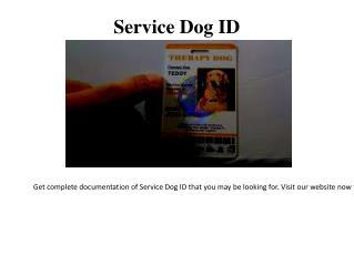 Service Animal ID