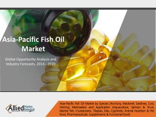 Asia-Pacific Fish Oil Market Size, Share, Industry Trends - 2020