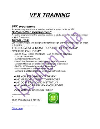 Best VFX Training In Odisha