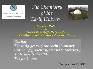 The Chemistry  of the Early Universe