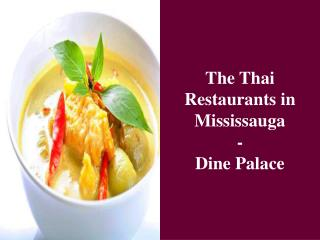 The Thai Restaurants in Mississauga- Dine Palace