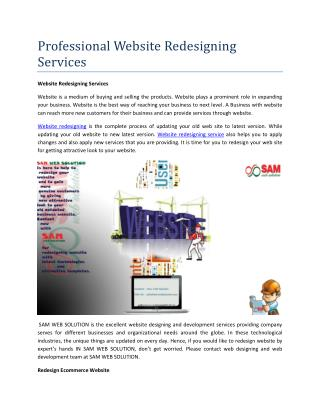 Professional Website Redesigning Services