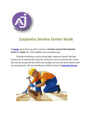 Carpentry Service Center Nasik