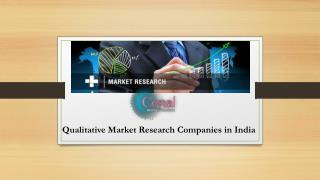 Services rendered by the Qualitative Market Research Companies in india