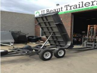 Ubeaut Trailers 10×5 Galvanised Tandem Tipper with 1000mm Cage 2000kg ATM