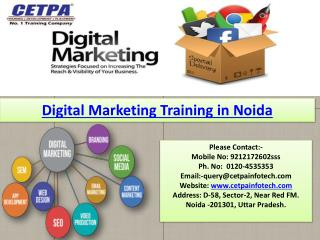 Best Digital marketing training in noida