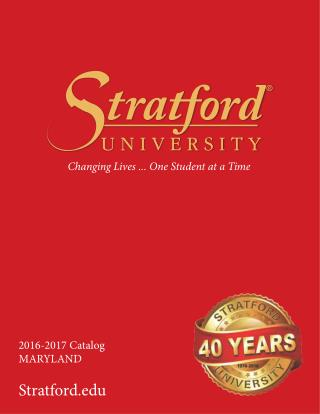 Stratford University MD Catalog