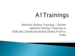 Abinitio Online Training | Online Abinitio Online Training in USA,UK,Canada,Australia,Dubai,France,India