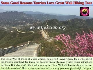 Some Good Reasons Tourists Love Great Wall Hiking Tour