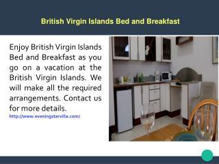 British Virgin Islands Bed and Breakfast