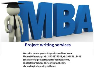 MBA Project Writing Services
