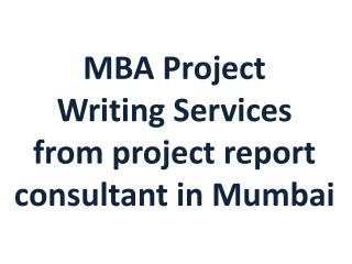 Best MBA Project writing services
