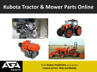 Kubota  Engine, Generator Spare & Replacement Parts