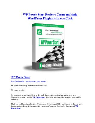 WP Power Start review and (Free) $21,400 Bonus & Discount