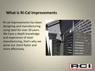 Ri-Cal Improvements