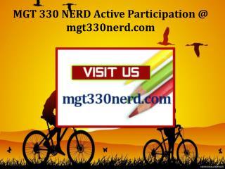 MGT 330 NERD Active Participation / mgt330nerd.com