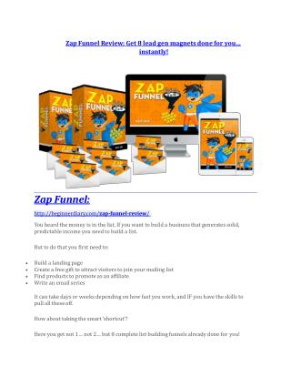 Zap Funnel review-- Zap Funnel (SECRET) bonuses
