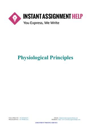 Instant Assignment Help - Sample Document on Physiological Principles