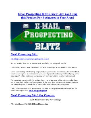 Email Prospecting Blitz Review-$32,400 bonus & discount