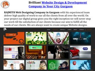 Brilliant Website Design & Development Company in Your City Gurgaon