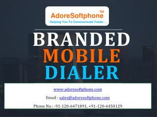 Branded VoIP Mobile Dialer for VoIP Provider
